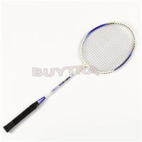 Wholesale 2014 New Pair Aluminium Alloy high strength Badminton Racket Top Quality Durable Light weight Racquet with Carry Bag