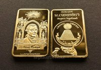 Wholesale GOLD INGOT ILLUMINATI kt FreeMason Masonic Conspiracy Order Bullion bar