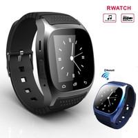 Factory Bluetooth Smart Watch Smartwatch M26 Montre avec affichage LED Baromètre Alitmètre Music Player podomètre pour Android IOS Téléphone s