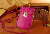 For Apple iPhone apple iphone messenger - 2015 New Origianl Golden Phoenix Genuine Leather Womens Lovely Small Bag Pouch Wallet Coin Satchel Shoulder Messenger Bag for iphone plus