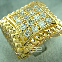 Wholesale Men s k gold Filled created diamond engagement wedding ring R105 size
