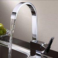 bamboo bathroom mirror - Mirror Polishe Modern Brief Kitchen Faucet Single Handle Mixer Tap Swivel Spout Spray Waterfall Chrome Kitchen Bathroom Faucet order lt no t