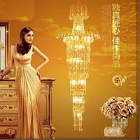 Wholesale Duplex stairs crystal chandeliers licensed long golden chandelier crystal chandelier crystal chandelier stairs shipping