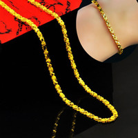 Wholesale fashion clover necklace and bracelet for men k gold plated chain male marry bijouterie statement necklaces for jewelry