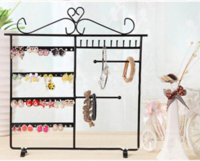 Wholesale 2015 HOT pc random color sale Earrings Necklace Ear Studs Jewelry Display Rack Metal Stand Organizer Holder Display Shelf N649