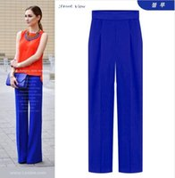 Wholesale Summer Best Selling New Fashion Chiffon High Waist Wide Leg Pants Pencil Pants Casual Loose Breathable