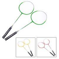 Wholesale 1 Pair Titanium Alloy Badminton Rackets Carry Bag Lightweight Durable Training Badminton Racket Racquet Sport Equipment