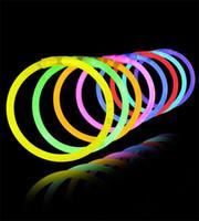 Wholesale 7 Multi Color Hot Glow Stick Bracelet Necklaces Neon Party LED Flashing Light Stick Wand Novelty Toy LED Vocal Concert LED Flash Sticks