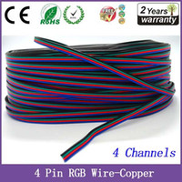 Wholesale 2PCS M Pin Channels RGB LED Strip Extension Cable Wire Cord Connector For RGB LED Strip Light