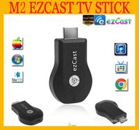 Wholesale HOT M2 EzCast Miracast Dongle TV stick HDMI P DLNA Miracast Airplay MirrorOP Display Receiver Dongle Support Windows iOS Andriod