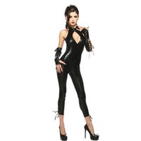 Cheap 151204 catsuit sexy lingerie halloween costumes for women disfraces erotic lenceria underwear deguisement adultes carnaval f3 latex 272