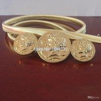 beauty silver belt - Retro Fashion Women Lady s Beauty Head Belt Gold Silver Metal Alloy Elastic Waist Belt Chains Coin Cummerbund Straps