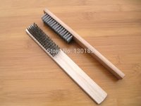 Wholesale high grade Wooden handle Stainless steel wire brush cleaning brush scrubbing brush removing paint rust
