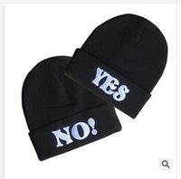 best mens beanies - YES or NO Hats Styles Mens Ladies Womens Sport Beanie Knitted Oversize Beanie Skull Caps Christmas hat Best gifts Casual Hat New