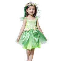 avenue halloween costumes - Girls Green Dress Leg Avenue Neverland Tinkerbell Woodland Fairy Dress Halloween Cosplay Costume For Kids SW0087 salabags