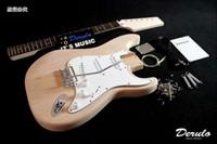 bass guitar kits - DIY Electric Guitar Kit Bolt On Bass Wood Dot Inlay Unfinished