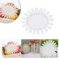 Wholesale 10Pcs white clear false Nail Art Acrylic Display Tips Practice Wheel Board DIY Tool Round promotion