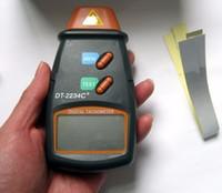 Wholesale Laser Tachometer Digital Speed Measuring tool RPM Meter DT2234C Non Contact Motor Speed Gauge Revolution Spin