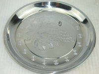 Wholesale Hotel round metal stainless steel serving tray food serving tray serving dinner plate