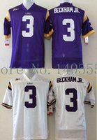 beckham free - Factory Outlet LSU Tigers Odell Beckham JR College Football Jerseys NCAA Authentic Double Stitched Logos Top Quality