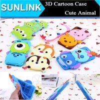 Wholesale 3D Cartoon Monster Mike Stitch Alien Winnie the Pool Chip Dale Soft Silicone Rubber Case Cover for iPhone s Plus S Samsung S6 S5 Note4