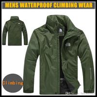 varsity jacket - 2015 Brand winter waterproof outdoor jacket men jackets and coats custom varsity jacket outdoor climbing hiking coat XL