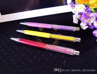 Wholesale Cheapest Metal pen of crystal Ball Point Pen with multi color for choose for prmotional gift
