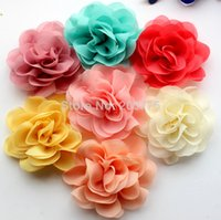 assorted girls tights wholesale - cm Assorted Colours Silk Lace Layered Flowers Mesh Tulle Puff Flower Flowers Garment Accessories