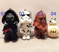 Star Wars 7 Force Awakens Jouets Star Wars Porte-clés Black Knight Blanc Soldats Robot BB-8 Tumbler Figurines d'action Cadeaux d'enfants