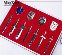 Wholesale Fashion Likable Gift Set Legend of Zelda Metal Shield Sword Blade Pendant