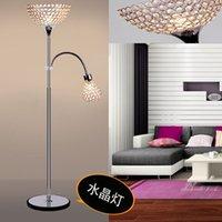 Wholesale 1 or heads Minimalist modern creative K9 crystal decorative floor lamp for living room lamp bedroom bedside study Mahjong