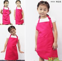 bib apron pockets - New Kids Aprons Pocket Craft Cooking Baking Art Painting Kids Kitchen Dining Bib Children Aprons Kids Aprons more colors