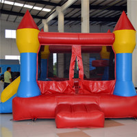 jump in - AOQI amusement park equipment outdoor colorful inflatable jumping castle for kids for sale made in China