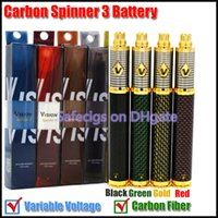 Wholesale Vision Spinner vision Carbon spinner III Carbon Fiber V mAh ego Twist Variable Voltage battery Tesla spider battery atomizers