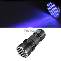 Q8 LED LED Flashlights 21 LED Flash Light Torch UV Ultra Violet LED Flashlights Cree AAA Model New Arrive 3pcs