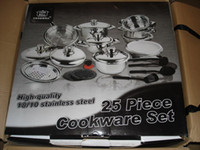 Wholesale piece set stainless steel cookware set pans inox utensil