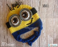 minion hat - PCSThe Popular Minions Hats Cuttest Baby crochet Minions hats The film Despicble Me Customized children and Adults handmade Hats