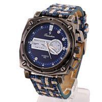 Wholesale 2015 new stylish personality retro color metal large dial PU with quartz watch fashion
