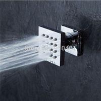 Wholesale NEW Luxury Wall Mounted Chrome Brass Bathroom Shower Massage one Jet Boday Sprayer