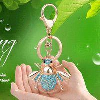 bee keyring - Y31 bees keychains keyrings keys chaveiros feminino llaveros mujer accessories porta chaves porte clefs cles portachiavi
