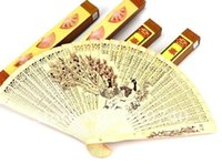 Wholesale High class sandalwood fan Hollow out folding fan Chinese features Gift