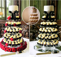 cupcake stand - 5 Tier Acrylic Cupcake Stand Transparent Cake Tower Rack Holder Pan Wedding Decoration Party Birthday Display Tool