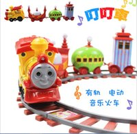 Wholesale Children electric train track assembled track toy Dingding garden baby music track car