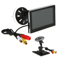 Wholesale 4 quot LCD Car Monitor Car Mirror for Rearview Camera VCD DVD Suction Cup Bracket