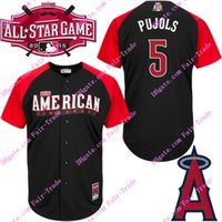 baseball jerseys - 2015 american league all star bp pujols jersey black authentic stitched baseball jerseys top quality accept mix order
