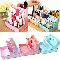 Cheap 1set DIY Paper Board Storage Box Schreibtisch Dekor Briefpapier Verfassungs-Kosmetik