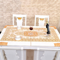 pvc table cloth - High Quality Europe Style Table Cloth PVC Restaurant Home Decorative Table Cloth Vintage Slip resistant Table Cover JM0105 kevinstyle