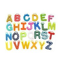 Wholesale Hot Sell Alphabet Cartoon Wooden Cute Fridge Magnet A Z Letters Baby Kid Educational Toy