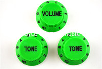 Wholesale Green Volume Tone Knobs Electric Guitar Control Knobs For Fender Strat Style Guitar Wholesales