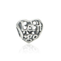 silver flats - authentic silverLet It Go Openwork Silver charms beads fit European bangle bracelets for pandora style jewelry No80 LW440